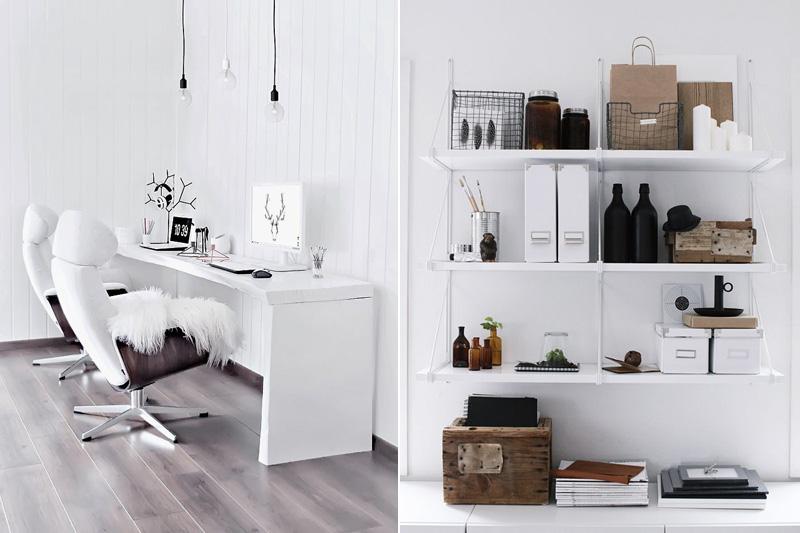 Beautiful Home Office Inspiration: Sanne Alexandras Blogg